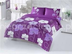 fioletowa pościel bawełniana