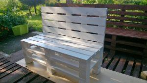 ławka ogrodowa z palety
